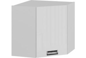 Шкаф навесной угловой с углом 45 (левый) (БЬЮТИ (Белая))