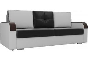 Прямой диван Мейсон Черный/Белый (Экокожа)