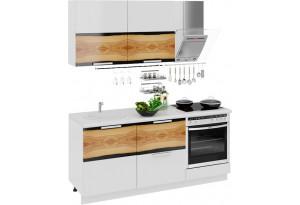Кухонный гарнитур длиной - 180 см (со шкафом НБ) Фэнтези (Вуд)