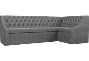 Кухонный угловой диван Мерлин Серый (Рогожка)