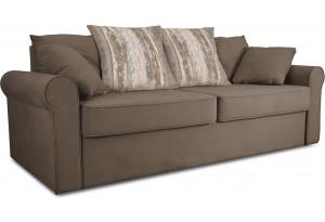 Диван «Шерри» Beauty 04 (велюр) коричневый, подушки Tiffany wood (шинил) древесный