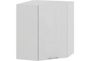 Шкаф навесной угловой «Весна» (Белый/Белый глянец)