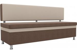 Кухонный прямой диван Стайл Коричневый бежевый (Рогожка)
