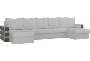 П-образный диван Венеция Белый (Экокожа)