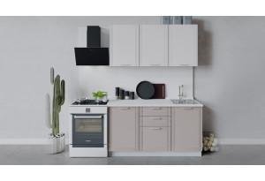 Кухонный гарнитур «Ольга» длиной 150 см (Белый/Белый/Кремовый)