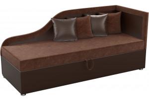 Детский диван Дюна коричневый/коричнева (Микровельвет)