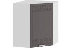 Шкаф навесной угловой «Долорес» (Белый/Муссон)