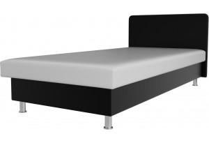 Кровать Мальта Белый/Черный (Экокожа)