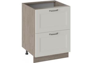 Шкаф напольный с 2-мя ящиками ОДРИ (Бежевый шелк)