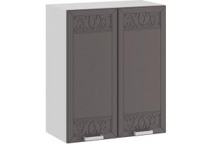Шкаф навесной c двумя дверями «Долорес» (Белый/Муссон)