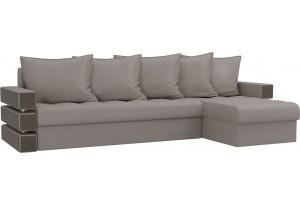 Угловой диван Венеция Бежевый (Рогожка)
