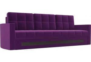Диван прямой Белла Фиолетовый (Микровельвет)