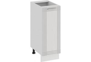Шкаф напольный с одной дверью «Ольга» (Белый/Белый)
