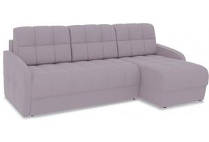 Диван угловой правый «Аспен Slim Т1» (Poseidon Pale Lavender (иск.замша) бледно-лавандовый)