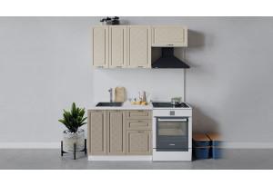 Кухонный гарнитур «Бьянка» длиной 160 см (Белый/Дуб ваниль/Дуб кофе)