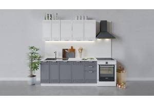 Кухонный гарнитур «Долорес» длиной 180 см (Белый/Сноу/Титан)