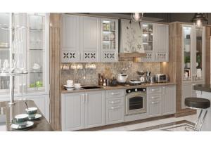 Кухонный гарнитур длиной - 285 см (со шкафом НБ) Дуб Сонома трюфель/Крем