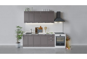 Кухонный гарнитур «Долорес» длиной 180 см (Белый/Муссон)