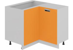 Шкаф напольный нестандартный угловой с углом 90° (БЬЮТИ (Оранж))