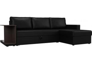 Угловой диван Атланта С Черный (Экокожа)