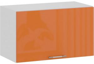 Шкаф навесной c одной откидной дверью «Весна» (Белый/Оранж глянец)