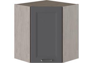 Шкаф навесной угловой с углом 45° ОДРИ (Серый шелк)