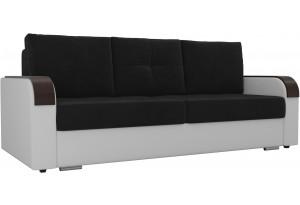 Прямой диван Мейсон Черный/Белый (Велюр/Экокожа)