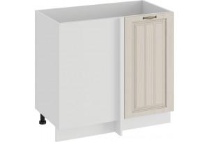 Шкаф напольный угловой «Лина» (Белый/Крем)