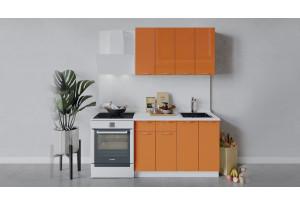 Кухонный гарнитур «Весна» длиной 120 см (Белый/Оранж глянец)