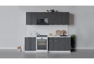 Кухонный гарнитур «Ольга» длиной 240 см (Белый/Графит)
