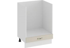 Шкаф напольный под бытовую технику «Бьянка» (Белый/Дуб ваниль)