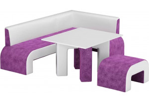 Кухонный уголок Кармен Фиолетовый/Белый (Микровельвет)