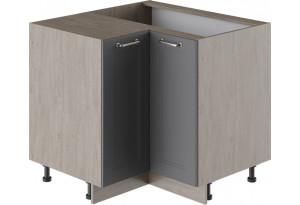 Шкаф напольный угловой с углом 90° ОДРИ (Серый шелк)