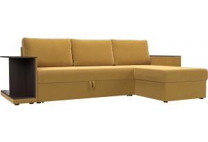 Угловой диван Атланта С Желтый (Микровельвет)