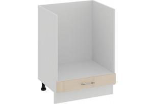 Шкаф напольный под бытовую технику «Весна» (Белый/Ваниль глянец)