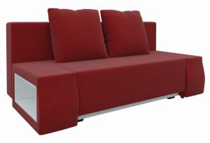 Диван прямой Шарль люкс Красный (Микровельвет)