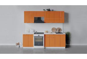 Кухонный гарнитур «Весна» длиной 240 см (Белый/Оранж глянец)