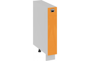 Шкаф напольный с выдвижной корзиной (БЬЮТИ (Оранж))