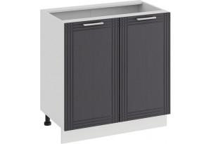 Шкаф напольный с двумя дверями «Ольга» (Белый/Графит)