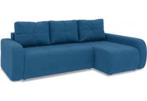 Диван угловой правый «Томас Т2» Beauty 07 (велюр) синий