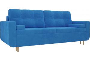 Прямой диван Кэдмон Голубой (Велюр)