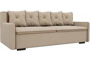 Прямой диван Витаре Бежевый (Рогожка)