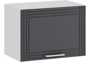 Шкаф навесной c одной откидной дверью «Ольга» (Белый/Графит)