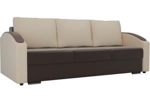 Прямой диван Монако slide Коричневый/Бежевый (Экокожа)