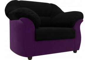 Кресло Карнелла черный/фиолетовый (Микровельвет)