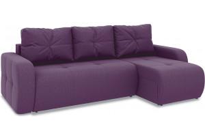 Диван угловой правый «Томас Т1» (Kolibri Violet (велюр) фиолетовый)