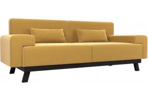 Прямой диван Мюнхен Желтый (Микровельвет)