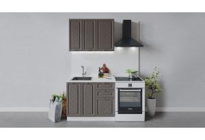 Кухонный гарнитур «Бьянка» длиной 100 см (Белый/Дуб серый)