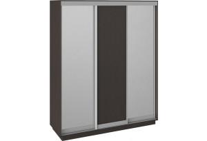 Шкаф-купе 3-х дверный «Румер» Венге, Зеркало/Венге/Зеркало