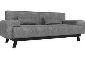 Прямой диван Мюнхен Серый (Рогожка)